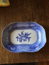 "Copeland Spode's CAMILLA Blue Serving Platter 10 1/2"" by 7 1/2"""