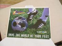 FLIPPER FOOTBALL PINBALL capcom   ARCADE   GAME  FLYER