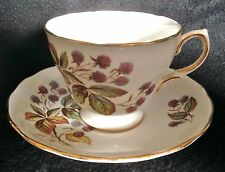 TEA CUP / SAUCER - ROYAL VALE Bone China, Berries Ridgway Potteries Ltd D 46 3 4