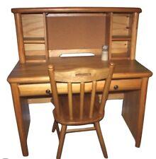 """Kids Furniture American Signature Camp Granada Pine Desk w/ Chair 49.5""""H 44""""W"""