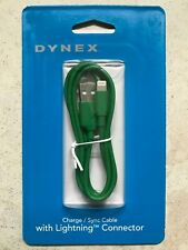 Brand New GREEN Dynex 3 Ft Lightning USB Connector Charge Sync Data Apple Cable