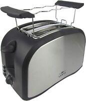 LENTZ 2-Scheiben Toaster Toastautomat Brötchenaufsatz 700W Abbruchfunktion Grau
