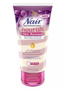 Nair Nourish Skin Renewal Hair Remover Cream for Face - 3 oz