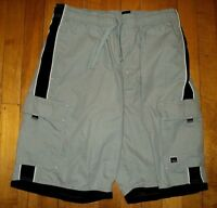* GOTCHA * NEW Vintage 80s Board Surf Shorts L Drawstring w Three 3 Pockets