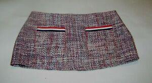 "8 3/4"" Pink Tweed Type Very Mod (1960s Style) Micro Mini Skirt Petite Size 6"