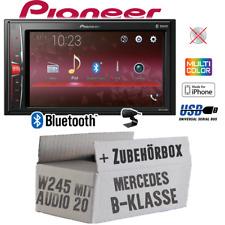 Pioneer Autoradio für Mercedes B-Klasse W245 Bluetooth MP3 USB 2-DIN Einbauset