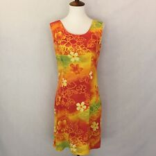 "JAMS WORLD Size XS ""Fire Flower"" Hawaiian Sleeveless Dress Multi-Color"