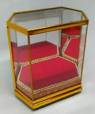 Altar Worship Mirror Box Small Glass Cabinet Cover For Thai Buddha Amulet
