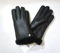 NWT $155 UGG Women's Shearling & Leather Gloves, Black, 15108, Choose a Size!