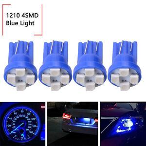 4x Blue T10 W5W 168 194 4-SMD LED Dash Instrument Cluster Gauge Light Bulb