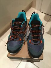 Men's Adidas Terrex AX3 Walking Shoes UK 9 Turquoise/orange /black New