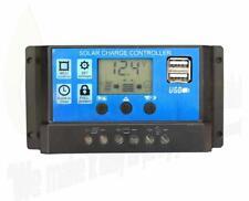 30A 12V/24V LCD Solar Panel Battery Regulator Charge Controller Dual USB LCD