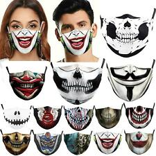 Unisex Halloween horror skull Washable Half Face Mouth Funny Face Protect Filter