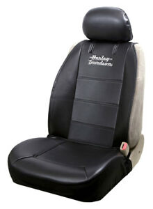 Harley-Davidson Stacked Logo Universal Sideless Seat Cover, Black – Single 8615