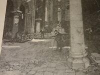 Auguste LEPERE (1849-1918) BOIS GRAVE EGLISE SAINT JULIEN le PAUVRE PARIS 1884