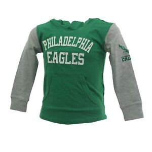 Philadelphia Eagles Official NFL Apparel Youth Kids Size Hooded Sweatshirt New