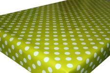 POLKA DOT SPOTS PVC TABLECLOTH WIPE CLEAN OILCLOTH VINYL FABRIC - 140CM WIDE