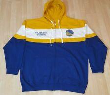 Golden State Warriors Blue Yellow Hoodie NBA Majestic Sweatshirt Fleece Mens 3XL