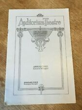 1912-1913 Chicago Civic Grand Opera Program Midsummer Night's Dream Advertising