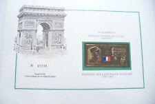 CARTE/DOC - IN MEMORIUM CHARLES DE GAULLE N° 18017/18 - OR 23 CARATS - NEUF  !!