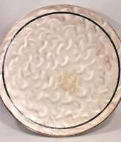 Vintage WMF- Ikora Round Stippled Silver Tone Footed Platter Tray No.370-6553