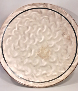 Vintage WMF- Ikora Round Stippled Silver Tone Footed Platter Tray No.370-6553