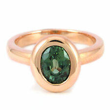 14k Rose Gold Green Sapphire Ring, 1.20ct. (fantastic NEW band, 5.9g) #00000857