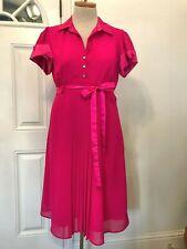 Rockabilly Robbie Bee Dress Size 14 16 Retro 1940's style hot pink Vintage