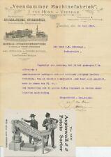 Firma envelop ( inhoud ) Veendam 1901 - Aardappel sorteermachine