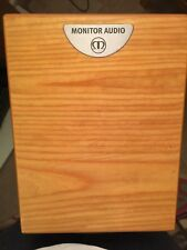 Monitor Audio Silver-RS1 Speakers. Light Oak with Gale black metal floor stands