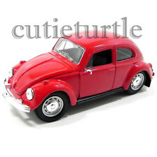 Maisto VW Volkswagen Beetle Bug 1:24 Diecast Model Car 34926 Red
