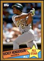 Rickey Henderson 2020 Topps 1985 35th Anniversary All-Stars 5x7 Gold #85AS-6 /10