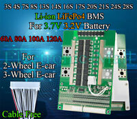 3S~28S 60A 80A 100A 120A Li-ion Lipo LiFePo4 LFP Battery Protection BMS Board