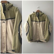 Helly Hanson Snowboard Jacket Unisex Size Medium Beige Green Winter Waterproof