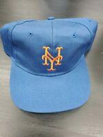 Vintage Officially Licensed MLB New York Mets Hat Snapback Cap Blue