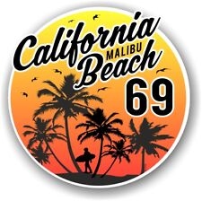 Retro Surf California Malibu Beach Surfing 1969 Car vinyl Sticker decal 95x95mm