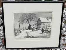 GORDON GRANT LITHOGRAPH ORIGINAL SIGNED TITLED THE FIRST SNOW