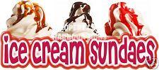 Ice Cream Sundaes Decal 18 Sundae Cart Concession Food Truck Restaurant Sticker
