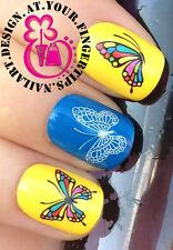 Nail Art Wrap Agua calcomanías de transferencia de pegatinas de manicura Mariposas Butterfly # 154
