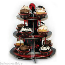 35.5cm Vampire Bite Blood Halloween Party 3-Tier Card Cupcake Cake Stand