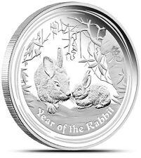 2011 1/2 oz Silver Australian Year of the Rabbit Coin Bullion Half Ounce