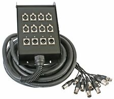 Stage Box & Multicore XLR snake/loom 15M 8+4 band theatre NEW