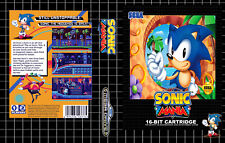 Sonic Mania Sega Mega Drive PAL Replacement Box Art Case Insert Cover Scan
