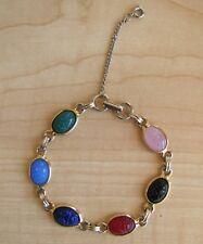 Egyptian Scarab Bracelet Beautiful Vintage Colorful