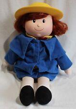 "Madeline Plush Doll Talking Kids Gifts 1998 Yellow Plastic Hat 15"" Stuffed Toy"