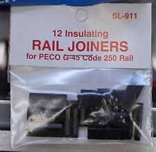 PECO SL-911 Insulating RAIL JOINERS for G-45 Code 250 Rail - 12 per package