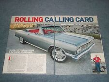 "1964 Chevelle Malibu SS Convertible RestoMod Article ""Rolling Calling Card"""