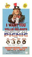 Willie Nelson **POSTER** BBQ Party Neil Young Johnny Cash Waylon Jennings *LOOK*