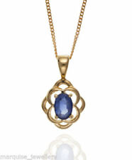 Oval Yellow Gold Sapphire Fine Necklaces & Pendants