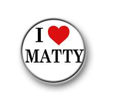 "I LOVE / HEART MATTY / 1"" / 25mm pin button / badge / band / Indie Pop / 1975"